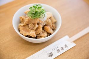 近江黒鶏の鶏皮パリパリおろし自家製ポン酢