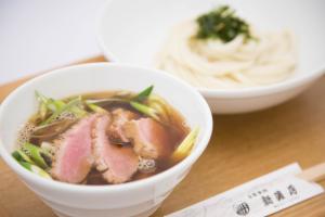 山城産京鴨と九条ねぎのつけ麺