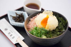 半熟玉子の天ぷらご飯